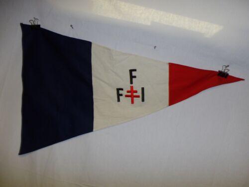 flag1205 WW 2 French Forces Interior Pennant blue IR42E