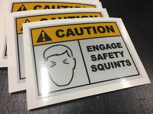 Engage Safety Squints Decal Sticker REFLECTIVE