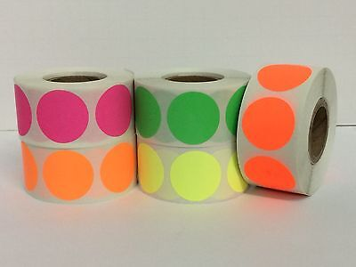 5 Rolls Of 500 2 Inch Round Bright Color Coded Inventory Labels Dots