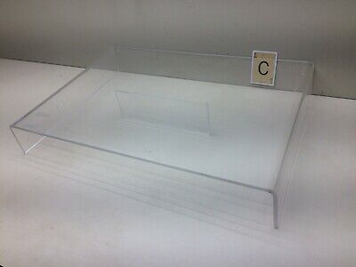 Clear Plastic Plexiglass Counter Table Top Display Stand W Center Support