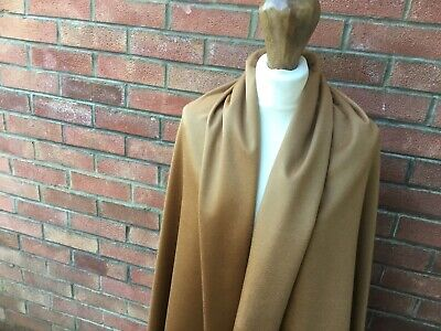 100% PURE CASHMERE  JOHNSTONS OF ELGIN  Gold velour luxury fabric