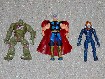2000s Lot of 3 Marvel Legends Figures Hulk Movie Abomination Ghost Rider More