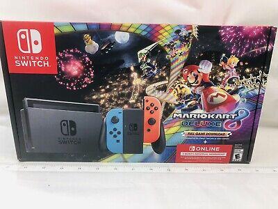 Nintendo Switch Console Mario Kart 8 Deluxe Bundle w/ Neon Blue/Red Joy-Con