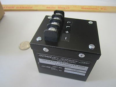 Trc Frequency Transducer Control Converter 60 Hz Pn 13211e6901 10380 New Qty.