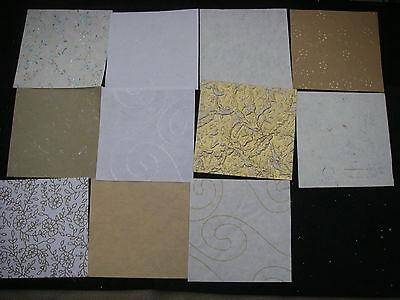 Job Lot CREATIVE Handmade NEUTRALS Paper Pack 22 Sheets 6x6 NEW TEXTURED Bargain