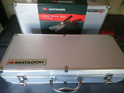 Stainless Steel 10 Piece BBQ tool set $45 NEW. Chermside Brisbane North East Preview