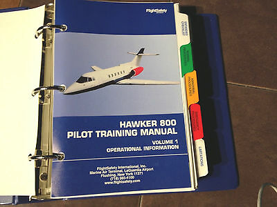 Hawker 800 Pilot Training Manual, Vol. 1 Operational Information