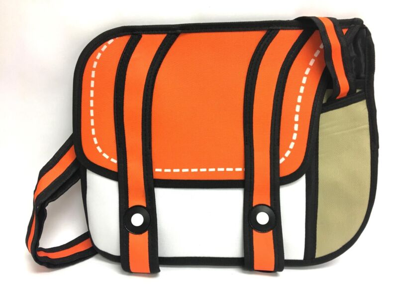 Unique Pop-Art Japanese Anime Two-Dimensional Backpack - Orange & White
