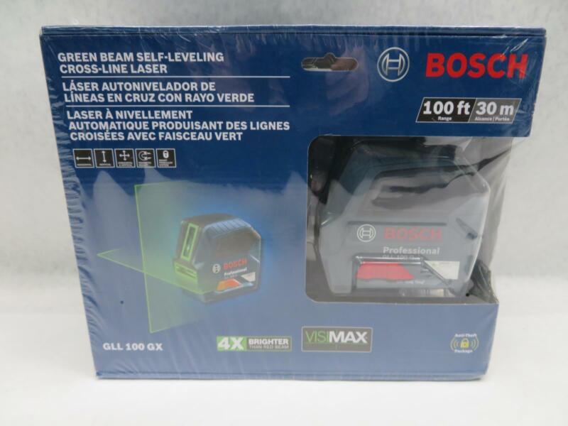 Bosch GLL 100 GX Green Beam Self-Leveling Cross-Line Laser Level