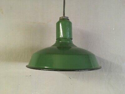 Green Industrial Porcelain Enamel Lamp Shade Wheeler Reflector Co