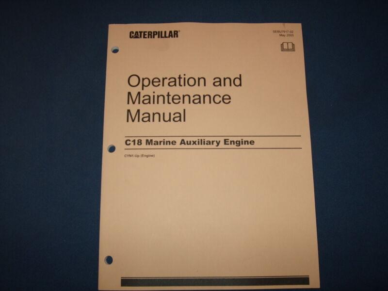 CAT CATERPILLAR C18 MARINE AUXILIARY ENGINE OPERATION & MAINTENANCE MANUAL CYN