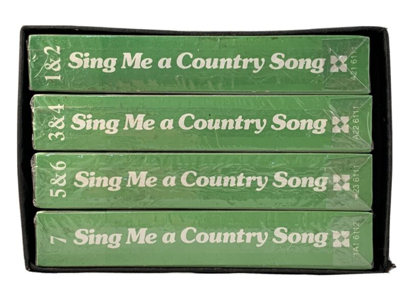 Sing Me A Country Song Music (4) 8-Track Tapes Set Volume 1-7 Columbia House New