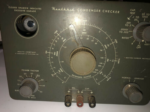 Heathkit C-3 Capacitor Condenser Checker Leakage Tester