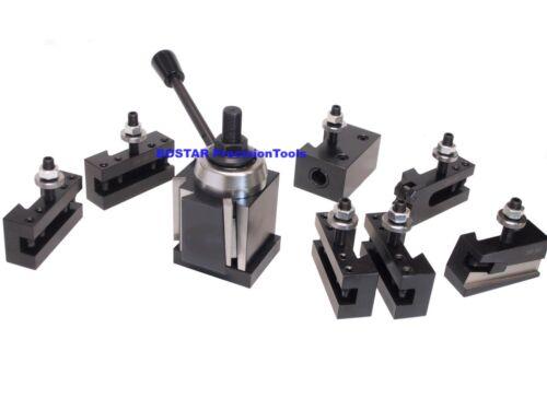 "CXA Wedge Tool Post for Lathe 13-18"", 250-333 Aloris, Plus 2 Extra Tool Holders"