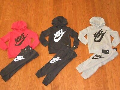Nike Futura Boys Pullover Hoodie & Pockets Jogger Pants Set 2T 3T 4T 4 6 NWT