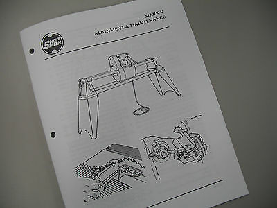 Shopsmith Mark V Alignment & Maintenance Manual covers 500/510/520