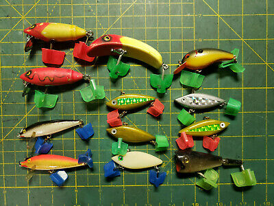 Walleye and Bass Pike 4-12 Wooden JerkbaitCrankbait Fishing Lure for Musky