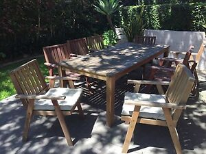 Outdoor table and chairs Neutral Bay North Sydney Area Preview