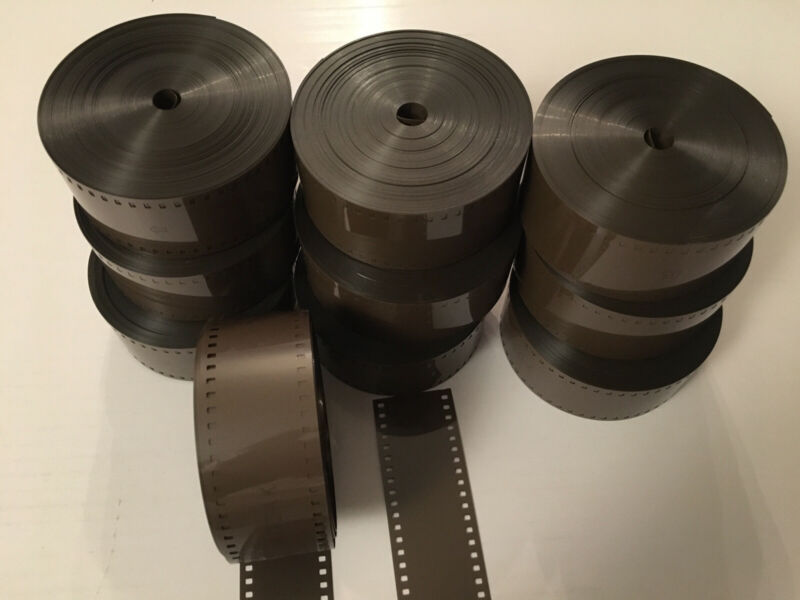 35MM Brown MOVIE FILM LEADER 100 FT FOR EDITING / PROJECTION & CAN