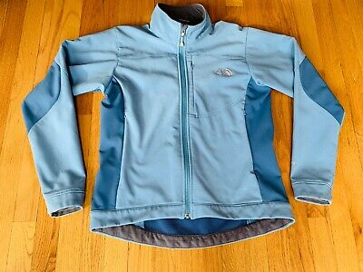 The North Face Apex Bionic Womens Blue Soft Shell Full Zip Jacket Sz M