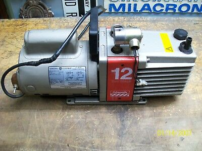 Edwards 12 Two-stage High Vacuum Pump W Ge 34 Hp Ac Motor 5kc45p1738t See Below