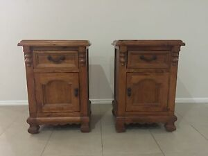 Timber Bedside tables Mount Cotton Redland Area Preview