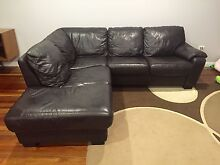 2 Chocolate brown corner leather lounges, buy 1, get one free!!!!! Fairy Meadow Wollongong Area Preview