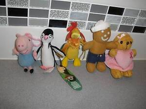 5 Small Plush Toys-1 Attachable Albany Creek Brisbane North East Preview