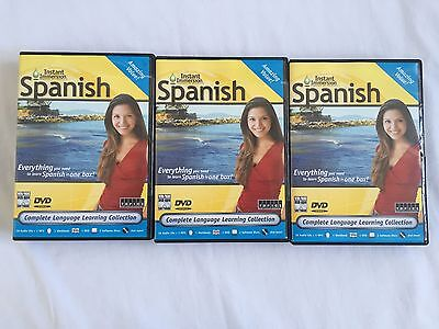 Instant Immersion Learn Speak Spanish 1 2 4  I Ii  Iv  Software Dvd Video Sealed