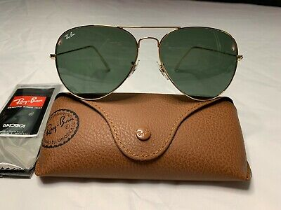 Ray-Ban Aviator Sunglasses RB3026 62mm L2846 Gold Frame w/ Classic Green Lenses