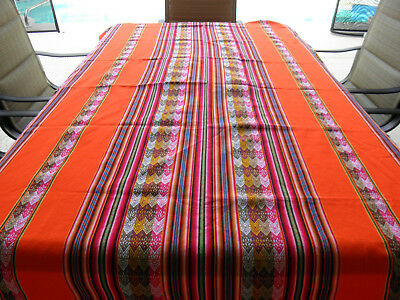New From Peru Andean Inca Cotton Table Cloth Table Cover 80x47