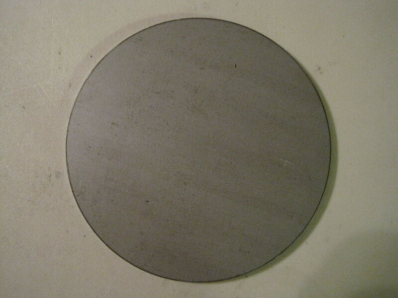 "1/4"" Steel Plate, Disc Shaped, 4.5"" Diameter, .250 A36 Steel, Round, Circle"