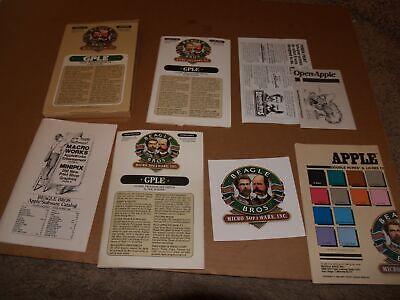 1986 Beagle Bros Micro Software Apple II+ IIe IIc IIgs GPLE Box and Manual