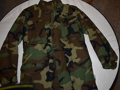 U.S.ARMY FIELD JACKET WOODLAND CAMOUFLAGE SMALL LONG