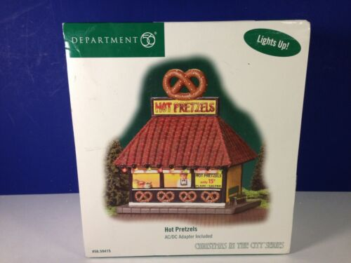 Dept 56 CIC Christmas in the City HOT PRETZELS Lighted 56.59415 Brand New!