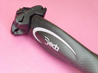 Deda Super Carbon bicycle seatpin - 31.6mm  -  NOS Deda Super Carbon