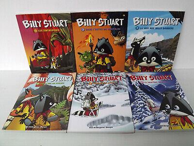 Billy Stuart Set of 6 Books Comics - Tomes 1 to 6 Alain M.Bergeron