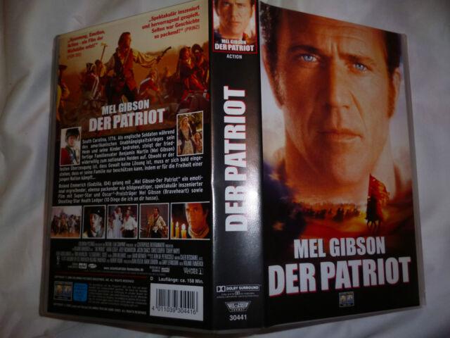 Der Patriot mit Mel Gibson FSK ab 16 Jahre VHS gebr.