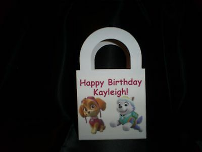 PAW PATROL girls Skye & Everest Personalized Birthday Party 12 Favor Boxes/bags (Personalized Party Favor Bags)