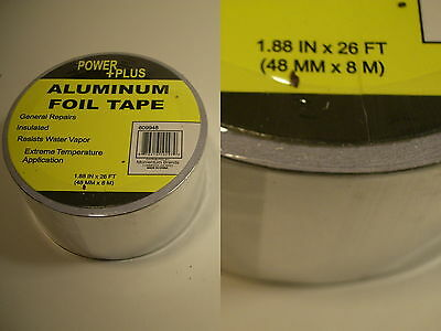 Aluminum high temp craft tape heat shield exhaust duct hobby model (Heating Duct Tape)