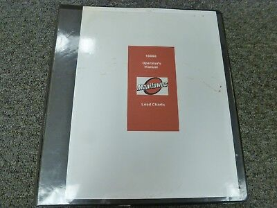 Manitowoc 10000 Crawler Crane Owner Operator Maintenance Manual Load Charts