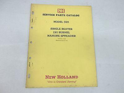New Holland Model 325 Single Beater 130 Manure Spreader Parts Catalog Sale