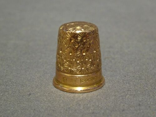 Vintage 9ct Rose Gold Thimble - Charles Horner - Chester 1925