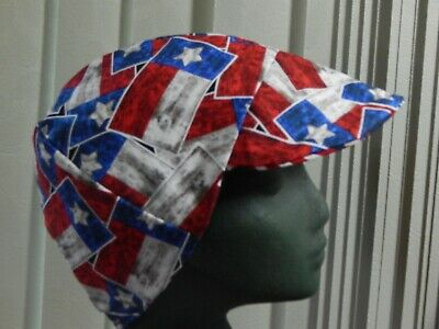 Texas State Flag Reds American Made Welding Biker Hat 4 Working Men 7.50