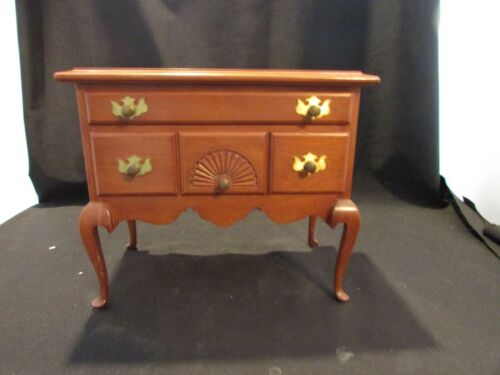Miniature Chippendale Walnut Chest of Drawers Salesman Sample Dove Tail Joints