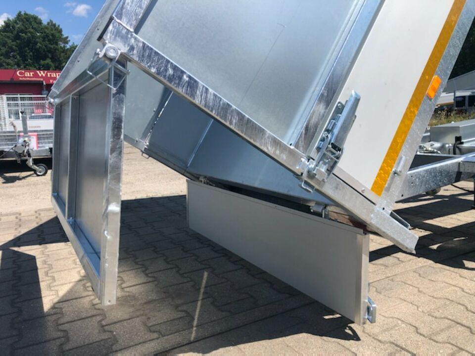 ⭐ Anhänger Eduard e-Kipper 1800 kg 256x150x30cm Laubgitter NEU 72 in Schöneiche bei Berlin
