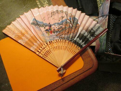 Gorgeous Original Hand-Made Geisha Hand Fan Very Rare 1920