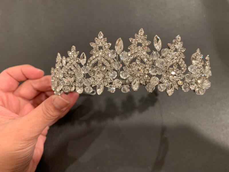 bridal crown tiara Silver