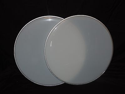 New Pair 16   White Floor Tom Drum Heads Two Heads Included Cheap Price