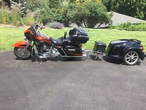 2007 Screaming Eagle Harley Davidson and Bushtec  trailer
